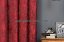 Красная штора с рисунком под мрамор Marble 4