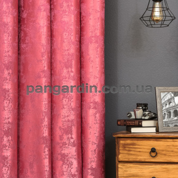 Розовая штора с рисунком под мрамор Marble 6