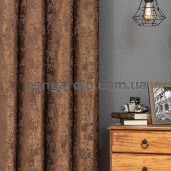 Шоколадная штора с рисунком под мрамор Marble 7